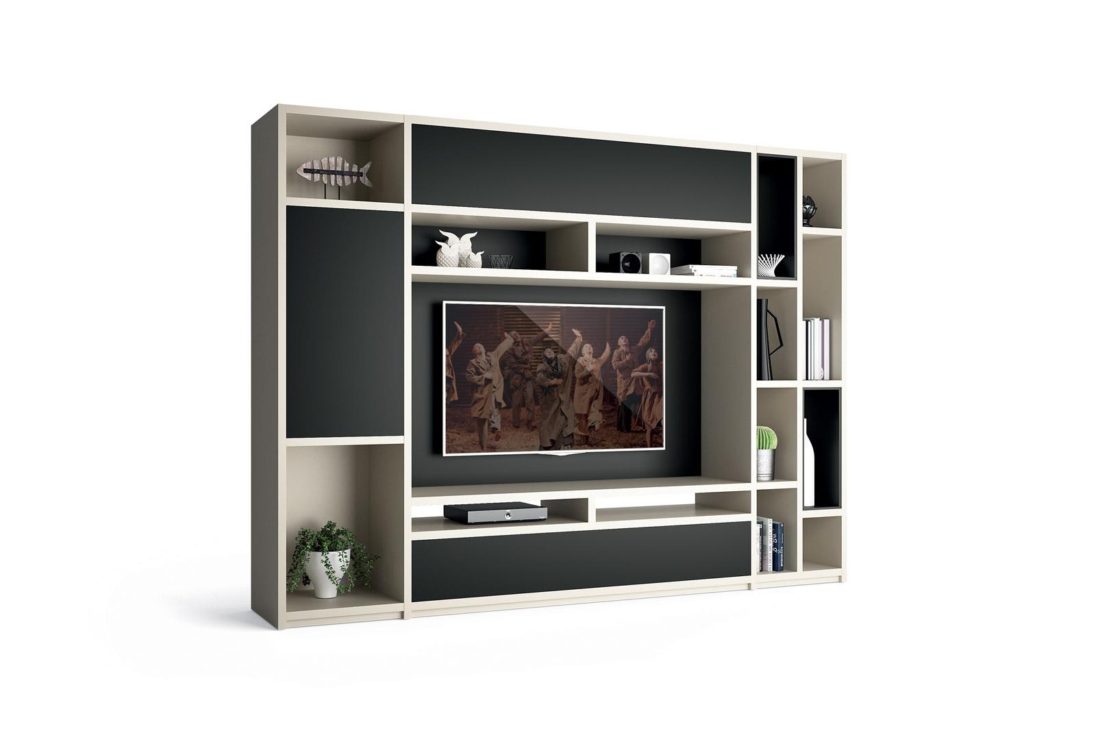 meuble de salon regency composition murale homesalons. Black Bedroom Furniture Sets. Home Design Ideas