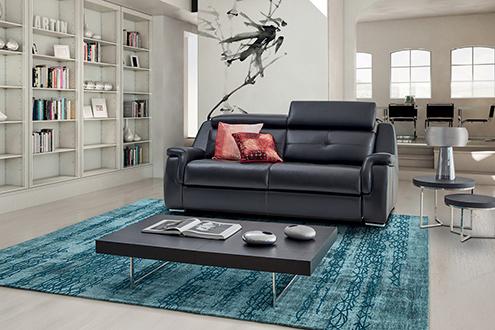 8ebcf5f78f1a3b Canapé relaxation en cuir Jaguar canapé et tétières relevables ...